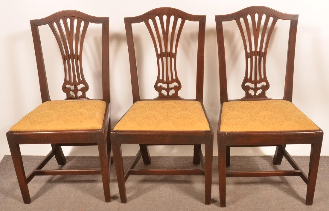 Set of Five Federal Mahogany Fan-back Dinning Chairs. - 2