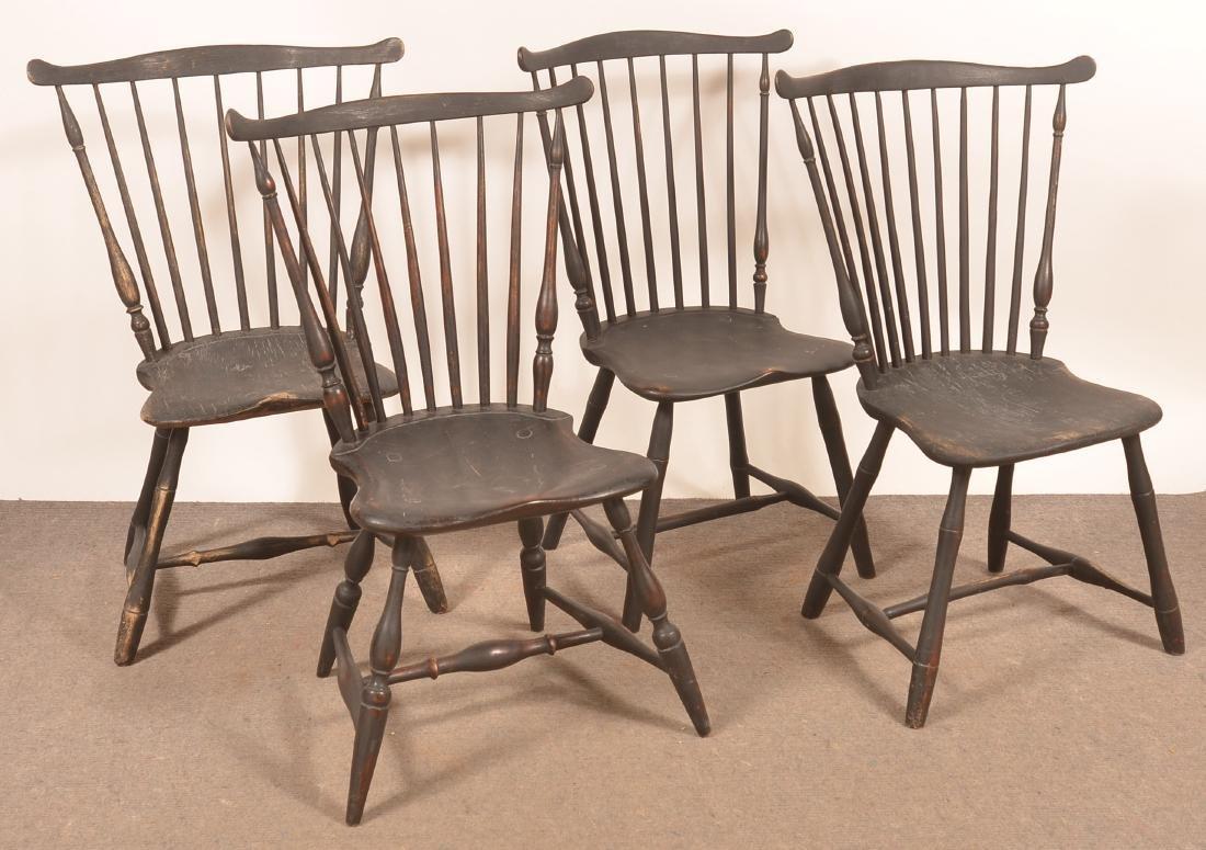 Assembled Set of Four Windsor Fan-back Sidechairs