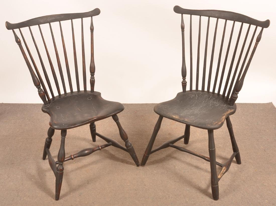 Assembled Set of Four Windsor Fan-back Sidechairs - 2