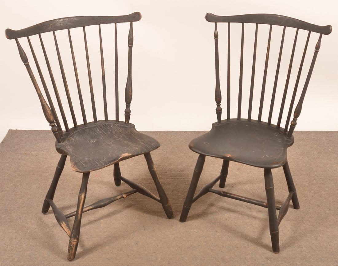 Assembled Set of Four Windsor Fan-back Sidechairs - 3