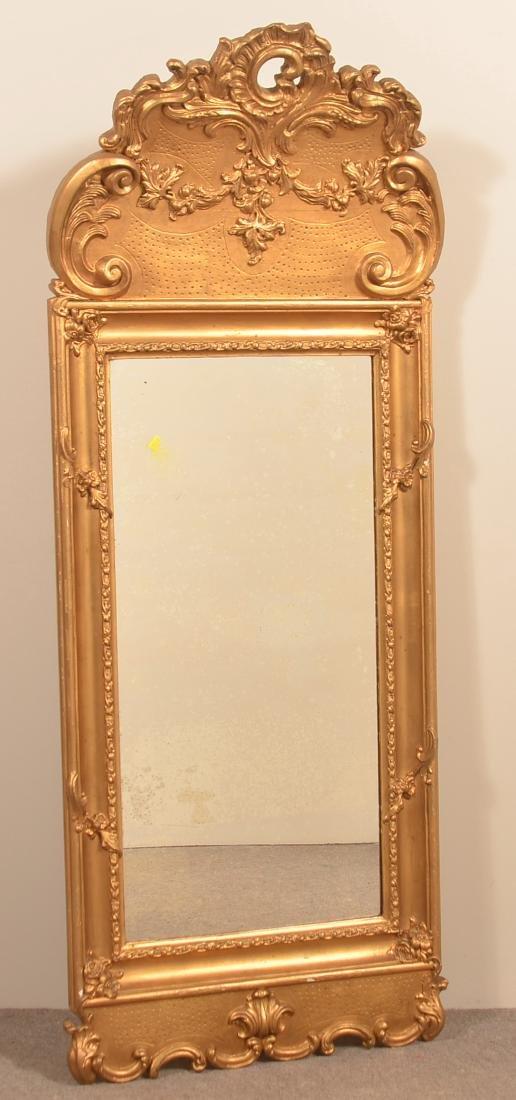 19th Century Ornate Gilt Frame Mirror.