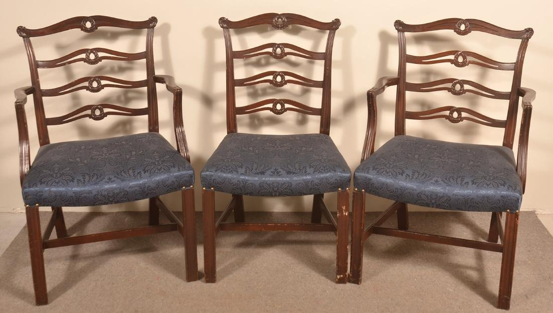 Set of Six Period Style Ribbon-back Dining Chairs. - 2