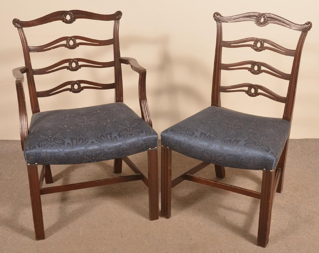 Set of Six Period Style Ribbon-back Dining Chairs. - 3