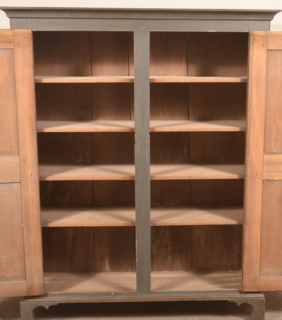PA Early 19th Century Blue Softwood Stauschrank. - 3