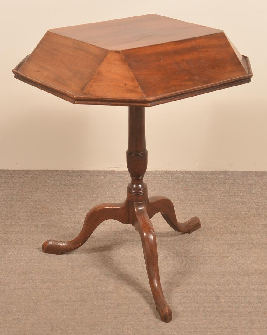 English Queen Anne Mahogany Music Stand.