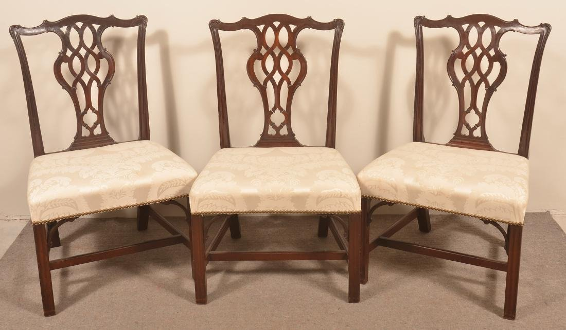 Set of Six Chippendale Style Mahogany Dining Chairs - 2