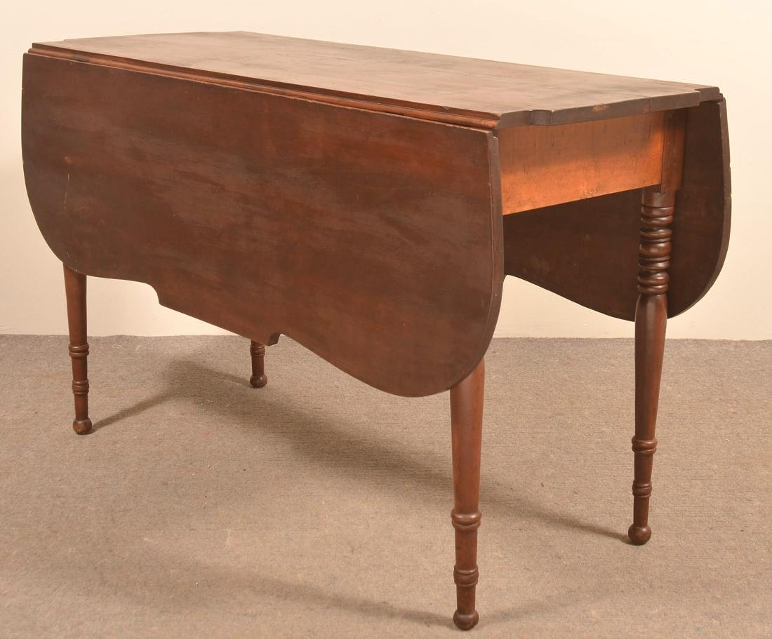 Pennsylvania Sheraton Cherry Drop-leaf Table.