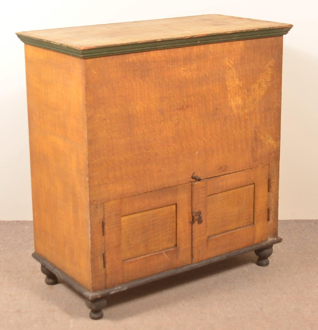 PA 19th Century Grain Painted Softwood Flour Chest.