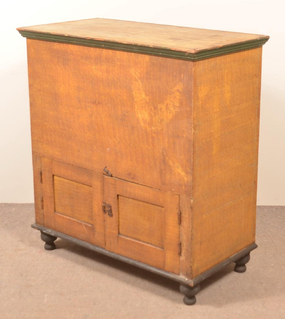 PA 19th Century Grain Painted Softwood Flour Chest. - 3