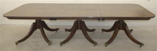 Very Large Mahogany Federal Style Banquet Table
