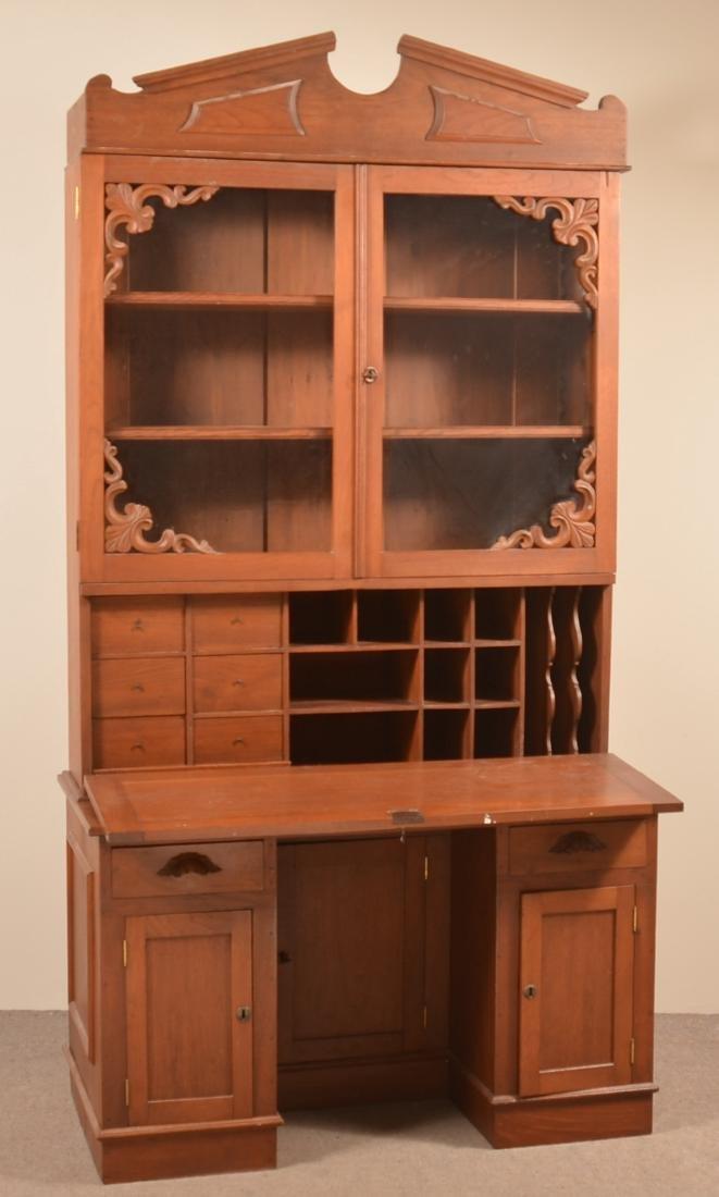 Victorian Walnut Plantation Desk.