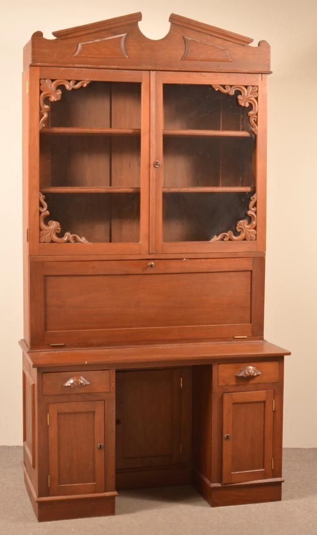 Victorian Walnut Plantation Desk. - 2