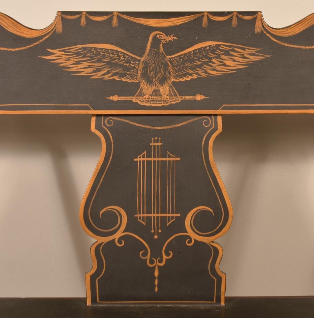 Pennsylvania 19th Century Paint Decorated Settee. - 2