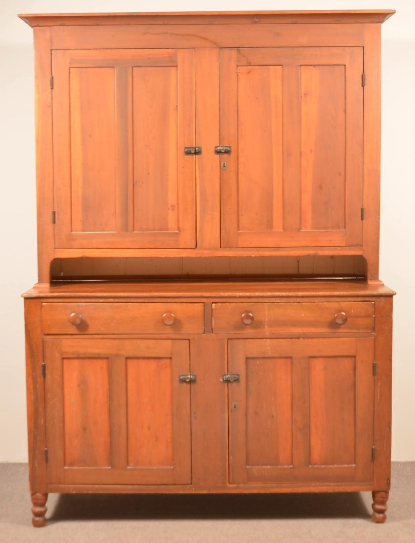 PA Federal Two Part Blind Door Dutch Cupboard.