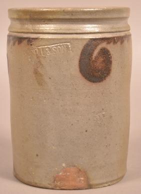 Solomon Bell Cylindrical Stoneware Preserve Jar.