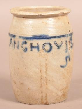 Antique Glazed Stoneware Preserve Jar.