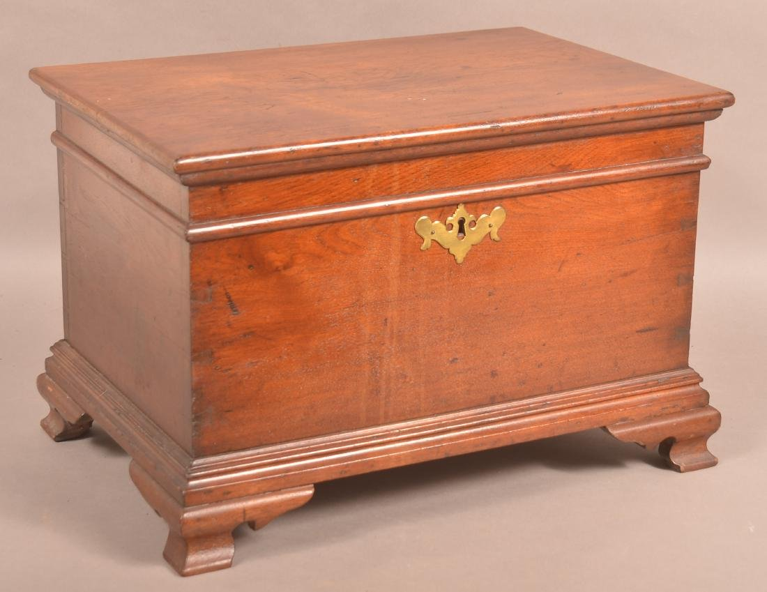 J. Bachman Chippendale Walnut Miniature Chest.