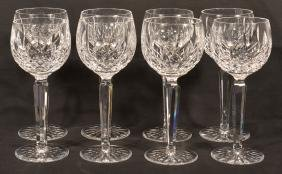 "8 Waterford Crystal ""Lismore"" Pattern Goblets."
