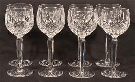 8 Waterford Crystal Lismore Pattern Goblets