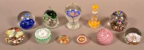 11 Various Glass Paperweight.