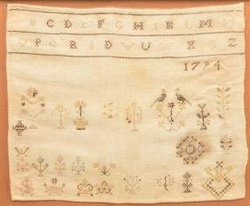 1794 Warwick Group, PA Random Type Sampler.