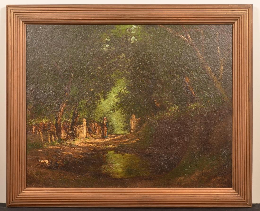 Milne Ramsey Oil on Canvas Landscape Painting.