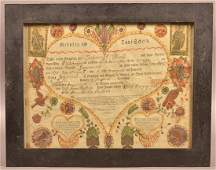 Frederick Krebs Birth and Baptismal Certificate.