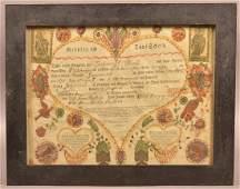Frederick Krebs Birth and Baptismal Certificate