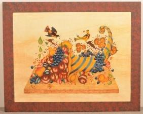 Large William Rank Theorem Painting on Velvet.