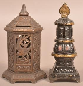 Two Cast Iron Heater/Stove Still Banks.