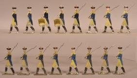16 Painted Lead Revolutionary Soldier Figures.