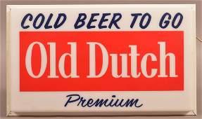Old Dutch Premium Beer Advertising Light.