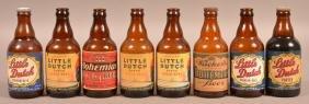 8 Wacker Brewing Co. Amber Crown Top Bottles.