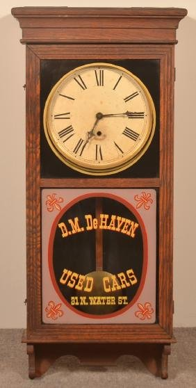 Sessions Regulator Oak Case Advertising Clock.
