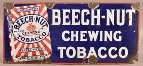 Vintage Porcelain Beech-Nut Tobacco Sign.