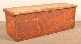 Softwood Feather Decorated Blanket Chest.