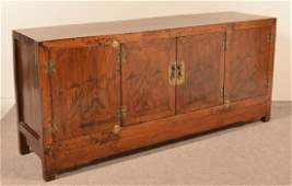 Vintage Chinese Lacquered Wood Sideboard.