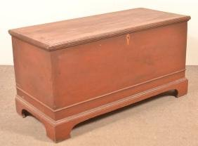 PA Softwood Red Painted Blanket Chest.