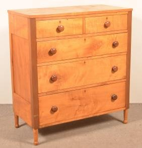 PA Federal Tiger Maple Chest of Drawers.