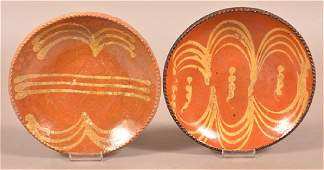 Two Pennsylvania 19th Century Redware Plates