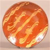 Pennsylvania 19th Century Redware Plate