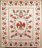 Vintage Applique Quilt with Spread-wing Eagle Center.