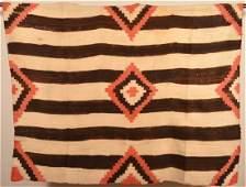 Antique Navajo Third Phase Geometric Pattern Rug.