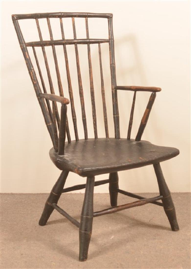 Bamboo Turned Windsor Birdcage Back Armchair.