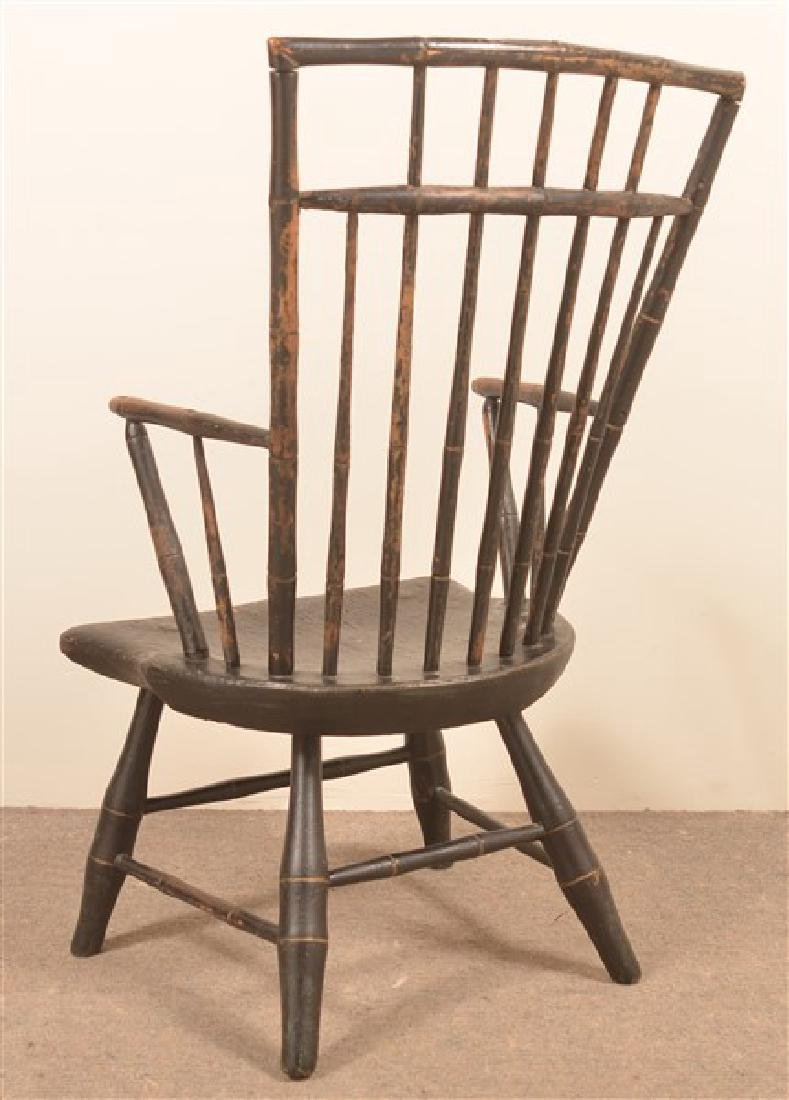 Bamboo Turned Windsor Birdcage Back Armchair. - 2