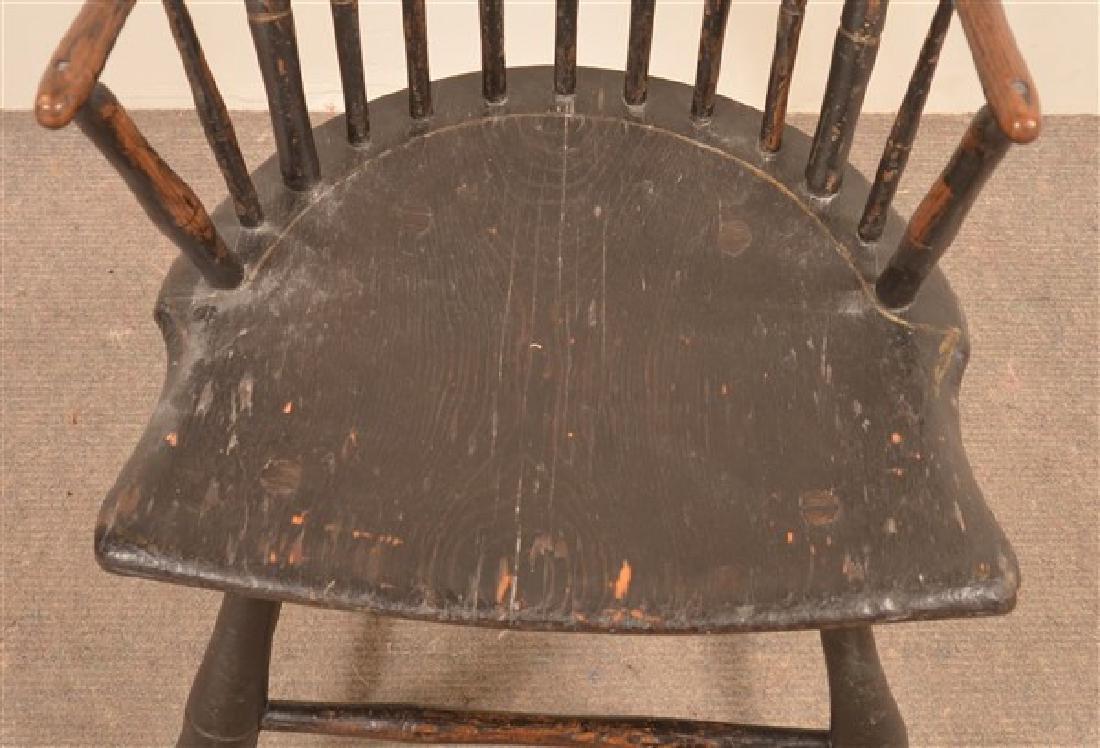 Bamboo Turned Windsor Birdcage Back Armchair. - 3