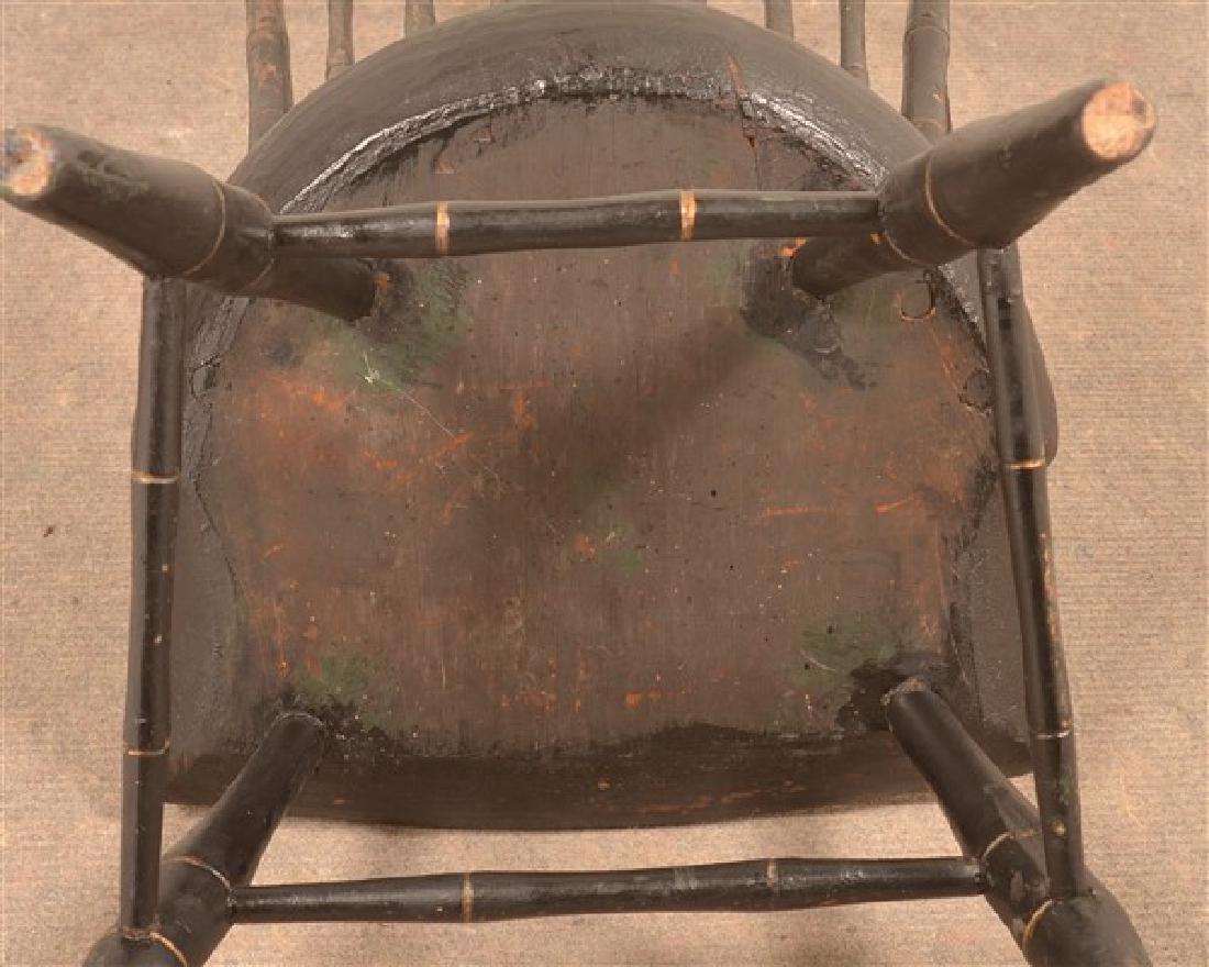 Bamboo Turned Windsor Birdcage Back Armchair. - 4