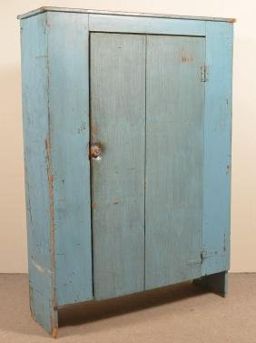 Pa 19th Century Primitive Softwood Cupboard.