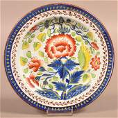 Gaudy Dutch Soft Paste China Carnation Pattern Plate