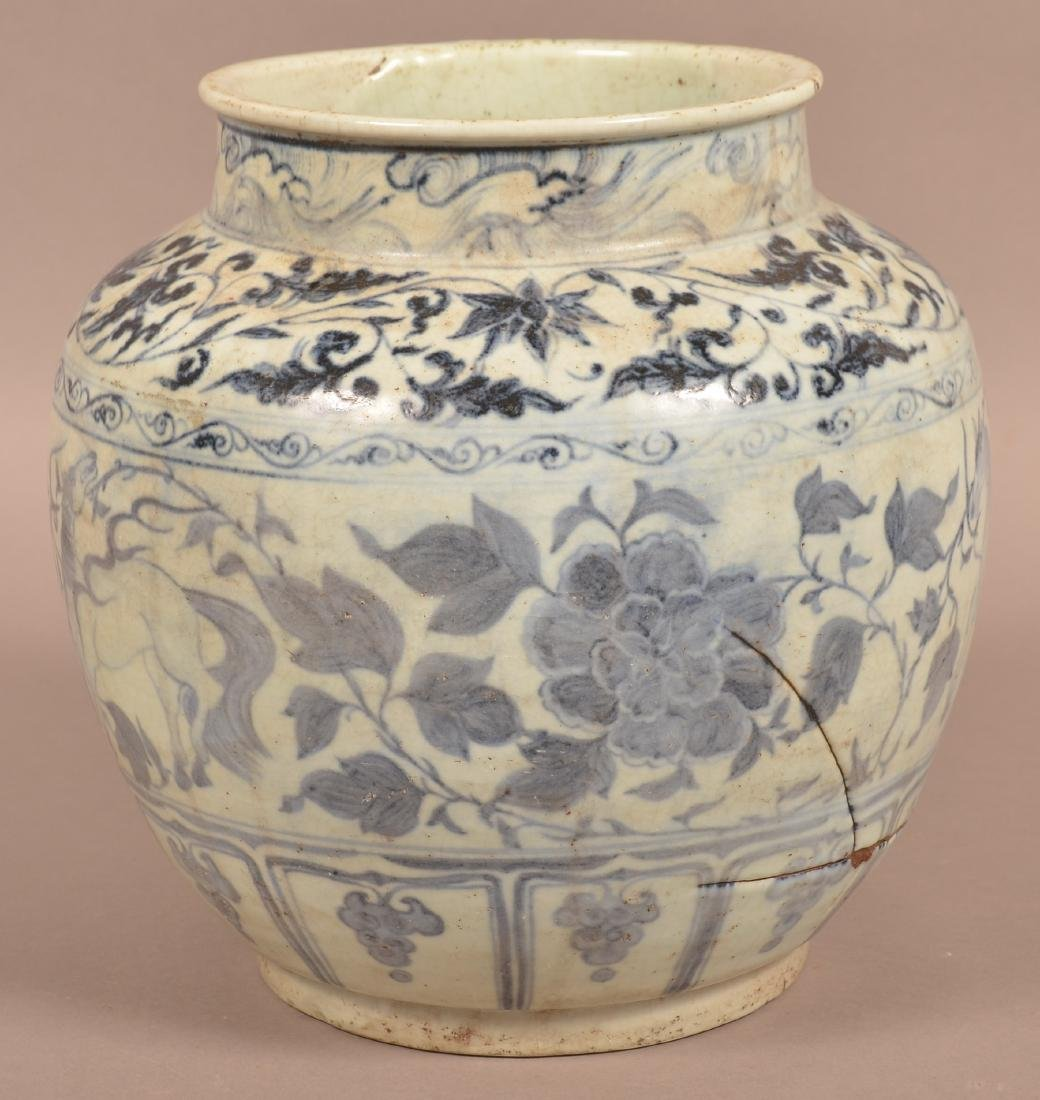 Large Chinese Ming Dynasty Blue and White Porcelain - 2